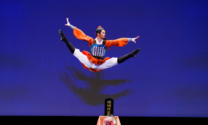 Aaron Huynh participated in the 9th NTD International Classical Chinese Dance Competition in New York state on Sept. 4, 2021. (Larry Dye)