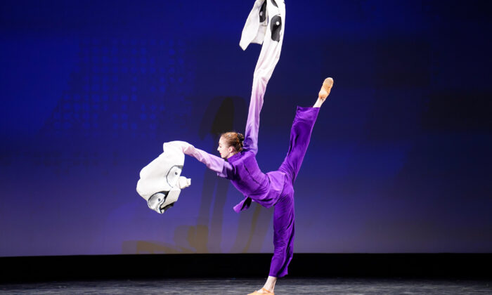 Lillian Parker participated in the junior female division of the 9th NTD International Classical Chinese Dance Competition in New York state on Sept. 4, 2021. (Larry Dye/The Epoch Times)