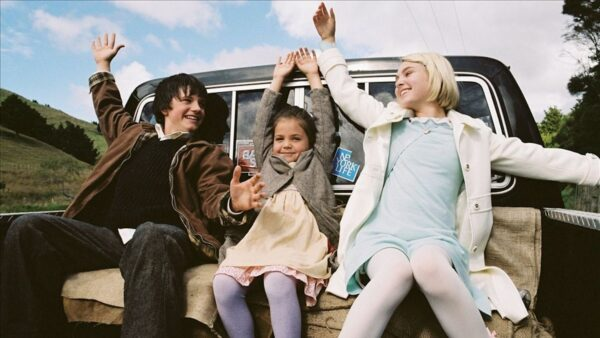 Brother and sister Jesse (Josh Hutcherson) and May Belle Aarons (Bailee Madison) and their friend Leslie Burke. (AnnaSophia Robb)