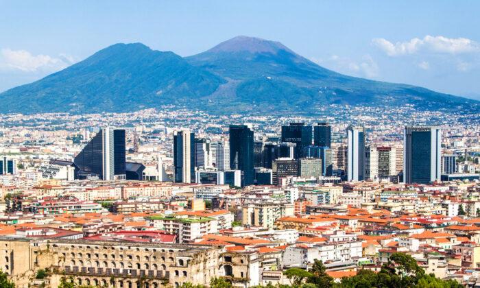 In the distance, Mount Vesuvius is ever present. (Matyas Rehak/Shutterstock)
