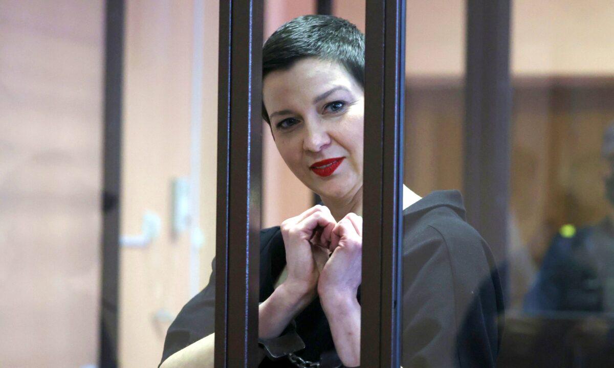 Belarusian opposition politician Maria Kolesnikova attends court hearing in Minsk