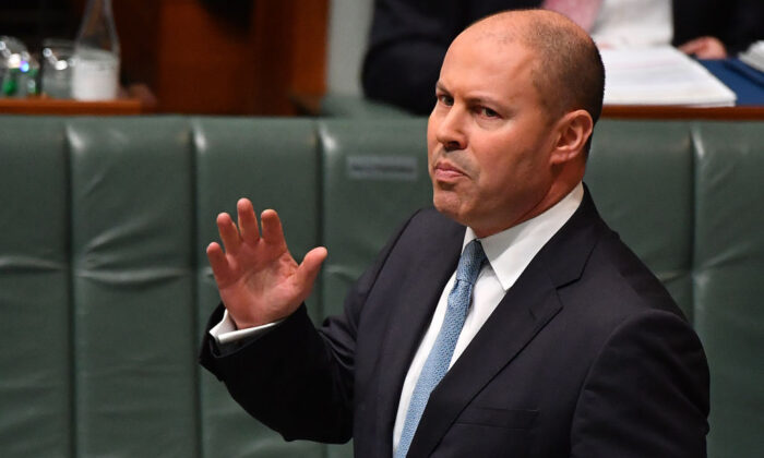 Treasurer Josh Frydenberg during Question Time in the House of Representatives at Parliament House in Canberra, Australia, on June 02, 2021. (Sam Mooy/Getty Images)