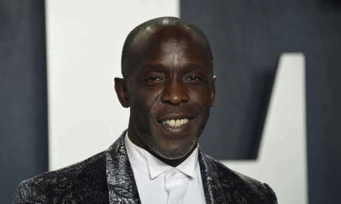 Michael K. Williams arrives at the Vanity Fair Oscar Party in Beverly Hills, Calif., on  Feb. 9, 2020. (Evan Agostini/Invision/AP)