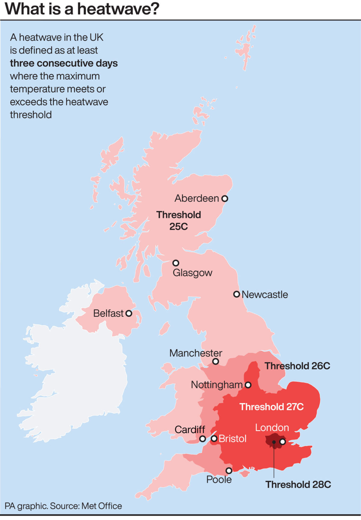 Infographic explains what a heatwave