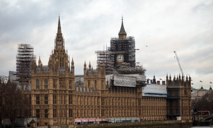 The Elizabeth Tower, commonly known as Big Ben, stands near the Houses of Parliament on the bank of the River Thames in London on Jan. 29, 2018. (Jack Taylor/Getty Images)