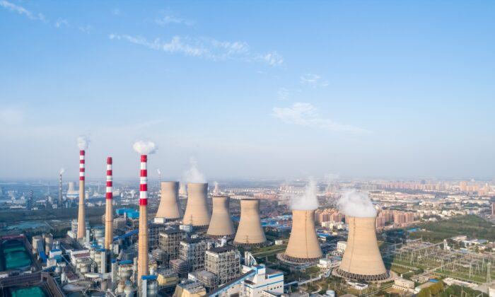Aerial view of a modern large coal power plant in Dezhou City, Shandong Province, China in this undated photo. (chungking/Adobe Stock)
