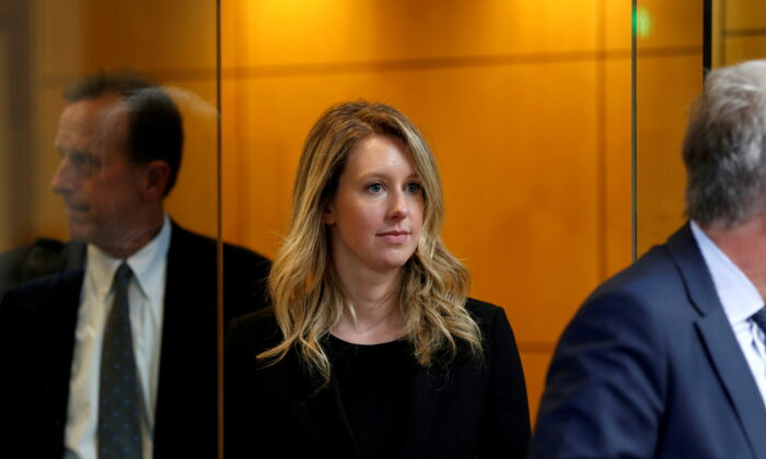 Former Theranos CEO Elizabeth Holmes leaves after a hearing at a federal court in San Jose, Calif., on July 17, 2019. (Stephen Lam/Reuters)