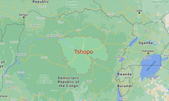 Democratic Republic of Congo's northeastern Tshopo Province, in 2021. (Google Maps/Screenshot via The Epoch Times)