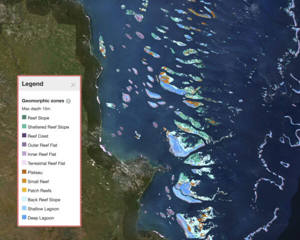 a map of the Great Barrier Reef