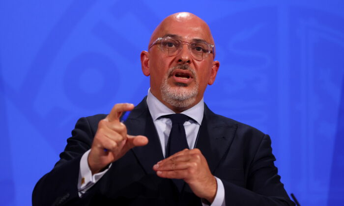 Britain's COVID-19 Vaccine Deployment Minister Nadhim Zahawi holds a media briefing on the COVID-19 pandemic at Downing Street in London on June 23, 2021. (Tom Nicholson-WPA Pool/Getty Images)
