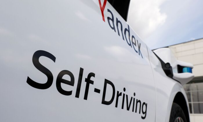 A self-driving car developed by Yandex in cooperation with Hyundai is seen during at event in Moscow, Russia, on May 27, 2020. (Shamil Zhumatov/Reuters)