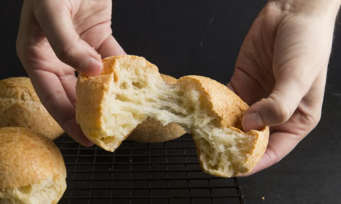 This cheesy, gluten-free bread is so good you'll probably eat more than one. (Sally Staub)