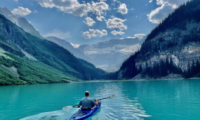 Kayaking through beautiful glacial waters. (Tami Ellis)