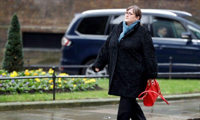 Rachel Lord, CEO EMEA of BlackRock arrives at 10 Downing Street in London on Jan. 11, 2018. (Peter Nicholls/Reuters)