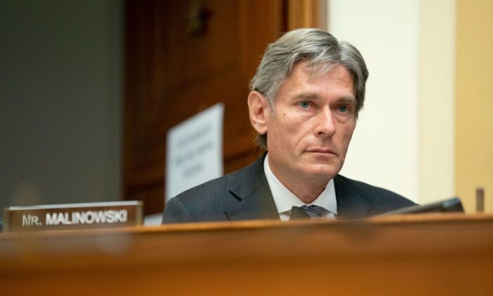 Rep. Tom Malinowski (D-N.J.) speaks during a House Foreign Affairs Committee hearing in Washington, on Sept. 16, 2020. (Stefani Reynolds/AFP via Getty Images)