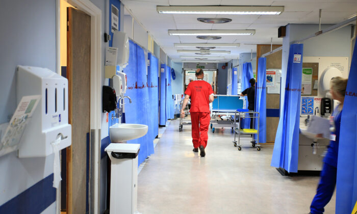 An NHS hospital ward in an undated file photo. (Peter Byrne/PA)