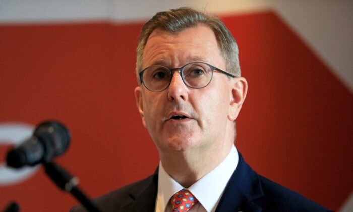 DUP leader Sir Jeffrey Donaldson in a file photo dated July 1, 2021. (Peter Morrison/PA)