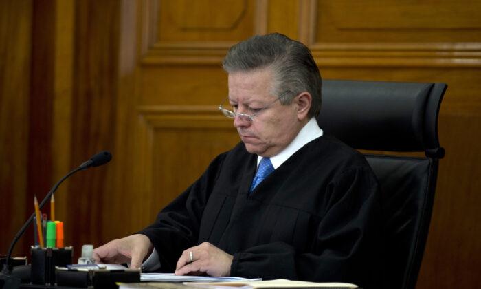 Mexico's Supreme Court member Arturo Zaldiva is seen in a file photograph. (Yuri Cortez/AFP via Getty Images)