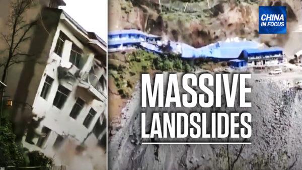 Landslides Bury Houses, Residential Buildings in China