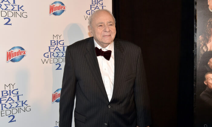 """Actor Michael Constantine attends """"My Big Fat Greek Wedding 2"""" New York Premiere at AMC Loews Lincoln Square 13 theater in New York City on March 15, 2016.  (Theo Wargo/Getty Images)"""