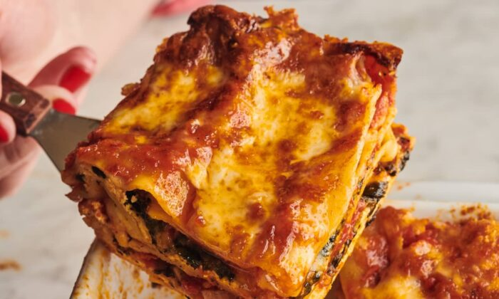 This lasagna doesn't need much to turn it into a complete dinner. (Joe Lingeman/TNS)