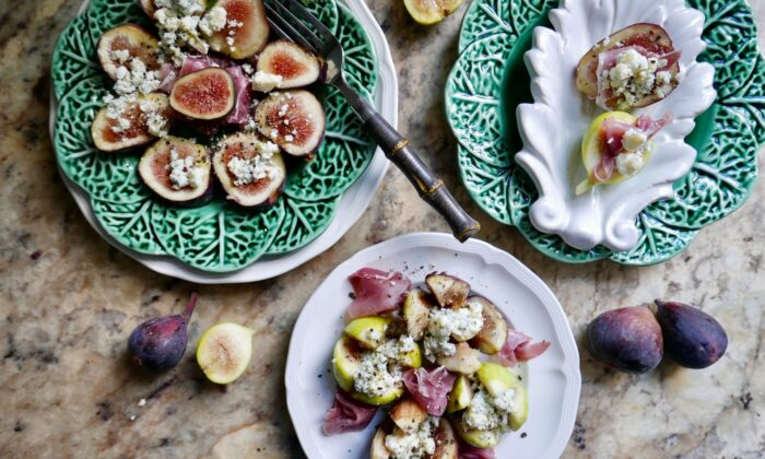 However you present them, sweet figs, salty jamón, and creamy blue cheese complement each other perfectly. (Victoria de la Maza)