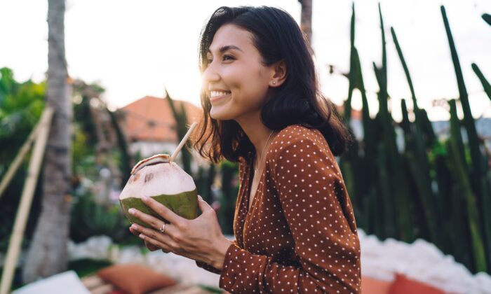 One of the best beverages to replace electrolytes is coconut water, which contains five of the six minerals. (GaudiLab/Shutterstock)