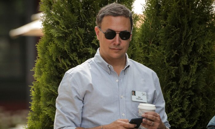 Jim Lanzone, president and CEO of CBS Interactive, attends the annual Allen and Co. Sun Valley media conference in Sun Valley, Idaho, on July 10, 2019. (Brendan McDermid/Reuters)