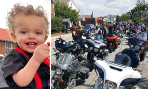 Almost 2,000 Bikers 'Show Up and Show Out' to Escort Hearse of 2-Year-Old Flood Victim
