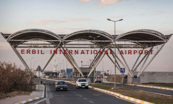 The entrance of Erbil International Airport in the capital of the northern Iraqi Kurdish autonomous region Arbil on Dec. 24, 2019. (Safin Hamed/AFP via Getty Images)