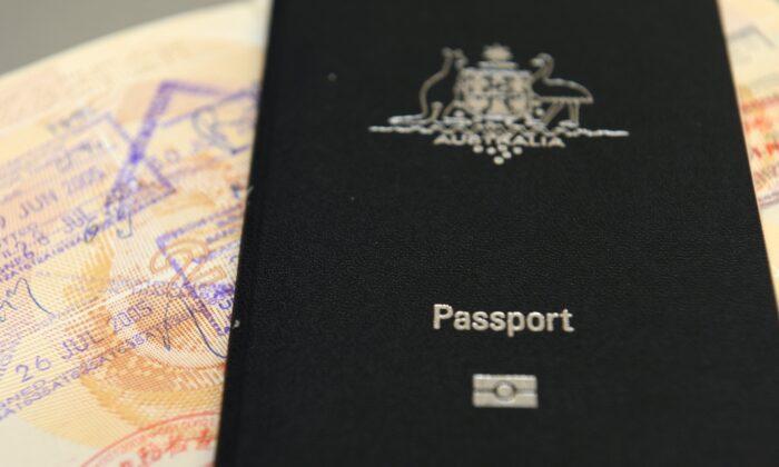 An Australian passport pictured in Brisbane, Australia, July 25, 2013. (AAP Image/Dan Peled)