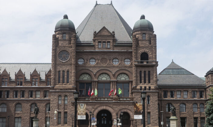 The Ontario legislature at Queen's Park in Toronto in a file photo. (The Canadian Press/Chris Young)