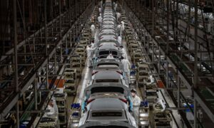 China Vehicle Sales Fall Amid Chip Shortages as Companies Drive up Prices