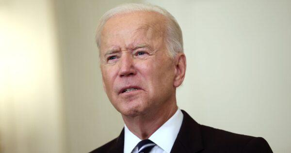 President Joe Biden talks about his handling of the coronavirus
