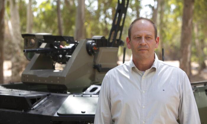 Deputy head of Israel Aerospace Industries autonomous systems division, Rani Avni, speaks during an interview in an IAI facility near the central Israeli city of Lod, on Thursday, Sept. 9, 2021. (Sebastian Scheiner/AP Photo)