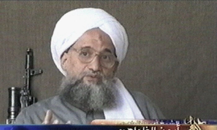 A video screenshot taken on July 6, 2006, from the pan-Arab satellite television network al-Jazeera shows al-Qaeda second-in-command Ayman al-Zawahri. (AFP via Getty Images)