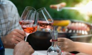 Wine and Grilled Food