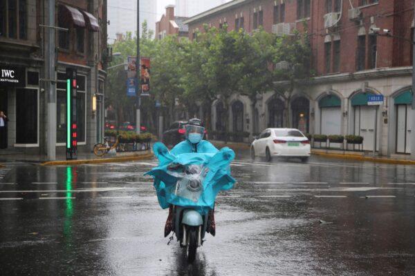 rains in Shanghai