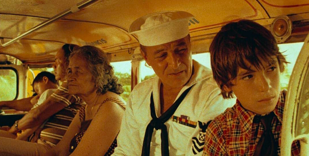 sailor and son on a bus in An Officer and a Gentleman