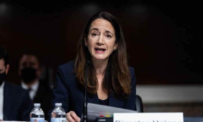 Director of National Intelligence Avril Haines testifies on Capitol Hill, in Washington, on April 29, 2021. (Graeme Jennings/Pool/Getty Images)