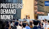 China Evergrande Investors Crowd Headquarters in Protest
