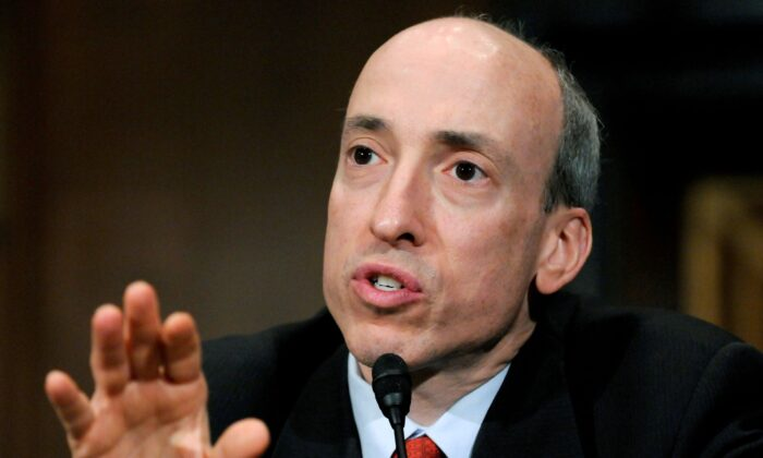 Commodity Futures Trading Commission Chairman Gary Gensler testifies at a U.S. Senate Banking Committee hearing on systemic risk and market oversight on Capitol Hill in Washington on May 22, 2012. (Jonathan Ernst/Reuters)