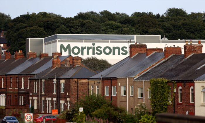 A view of a Morrisons supermarket in Birtley, Britain, on Aug. 16 2021. (Lee Smith/Reuters)