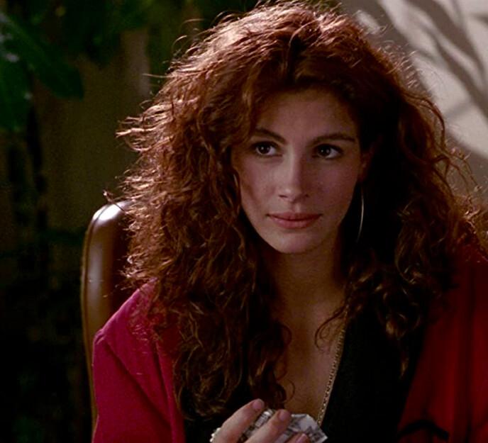 woman in red jacket in pretty woman