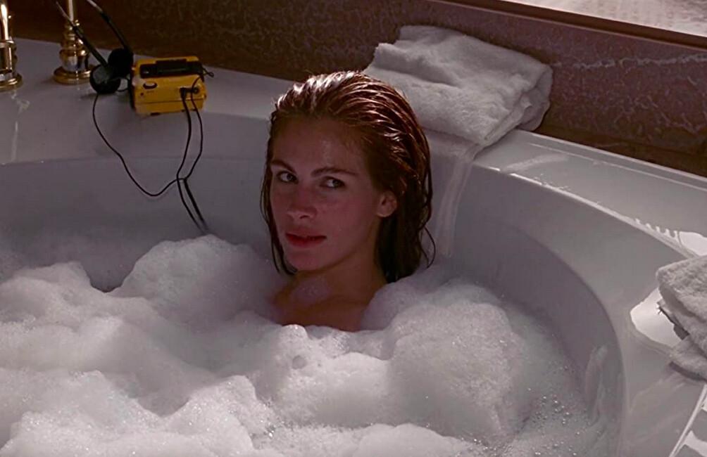 woman in bubble bath in Pretty Woman