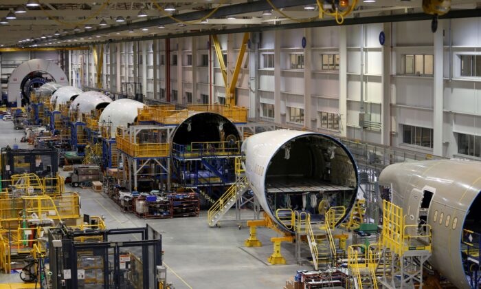 The 787 Aft Body manufacturing area is pictured at Boeing South Carolina in North Charleston on March 25, 2018. (Randall Hill/Reuters)