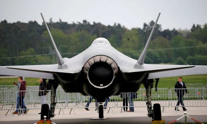 A Lockheed Martin F-35 aircraft is seen at the ILA Air Show in Berlin, Germany, on April 25, 2018. (Axel Schmidt/Reuters)