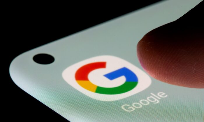 Google app is seen on a smartphone in this illustration taken on July 13, 2021. (Dado Ruvic/Illustration/Reuters)