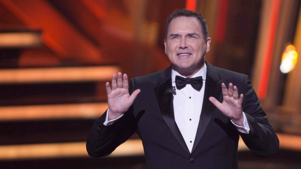 """Norm Macdonald begins as host of the Canadian Screen Awards in Toronto on March 13, 2016. Macdonald remembers the late Burt Reynolds as a great storyteller and """"hilarious"""" entertainer. (The Canadian Press/Peter Power)"""