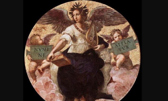 "Poetry, from the ""Stanza della Segnatura,"" 1509–511, by Raphael. (Public domain)"